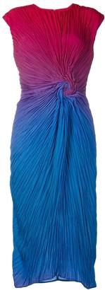 Sies Marjan Degrade Plisse Midi Dress