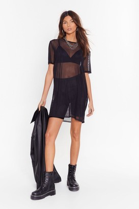 Nasty Gal Womens See Clearly Now Mesh Dress - Black - 4, Black