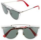 Valentino Women's 48Mm Retro Sunglasses - Green/ Light Gold
