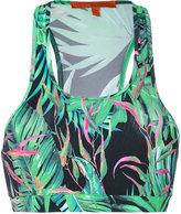 Ermanno Scervino palm print crop top - women - Polyamide/Spandex/Elastane - S