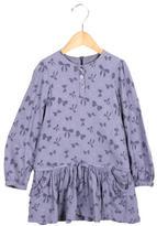 Tartine et Chocolat Girls' Bow Print Drop Waist Dress