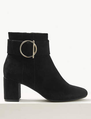 Marks and Spencer Wide Fit Side Buckle Ankle Boots