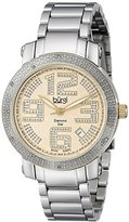 Burgi Women's BUR091TTG Silver Quartz Watch with Yellow Gold Dial and Silver Bracelet