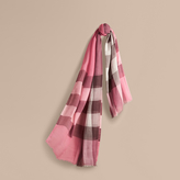 Burberry Check Modal Cashmere and Silk Scarf