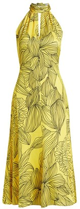 Milly Tropical Floral Halter Dress