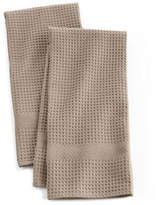 Distinctly Home Solid Waffle Two-piece Kitchen Towels Set