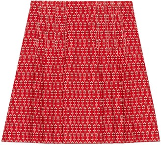 Gucci Daisy jacquard pleated skirt