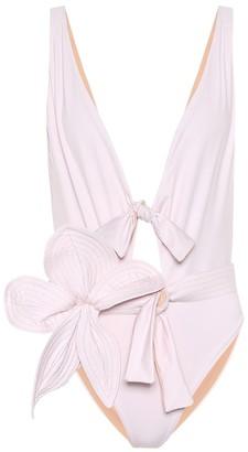 Johanna Ortiz Shadows belted one-piece swimsuit