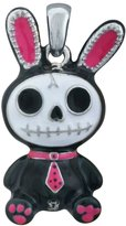 Summit Black Bunny Bun-Bun Furry Bones Collectible Pendant Necklace