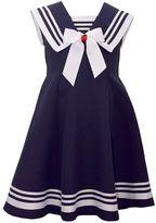 Bonnie Jean Girls 7-16 Fit & Flare Poplin Nautical Dress