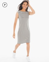 Chico's Casual Stripe T-Shirt Dress