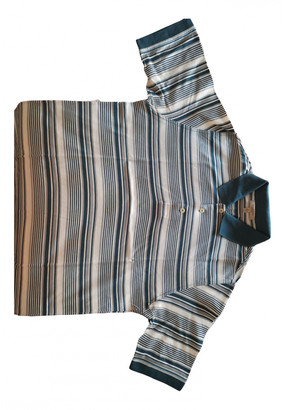 Burberry Blue Cotton Polo shirts