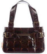 John Galliano Embossed Leather Shoulder Bag