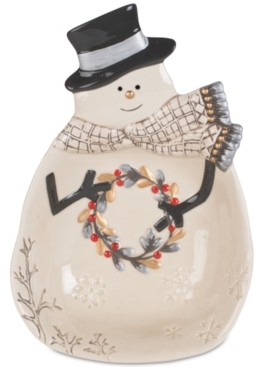 Fitz & Floyd Wintry Woods Snowman Serve Bowl