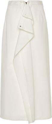 Maison Margiela Draped Denim Midi Skirt