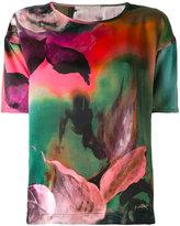Ermanno Gallamini - floral print T-shirt - women - Silk - XS