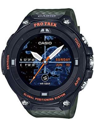 Casio Men's PRO Trek Stainless Steel Quartz Watch with Resin Strap
