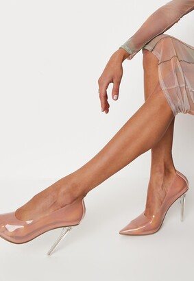 Missguided Sand Clear Court Heels