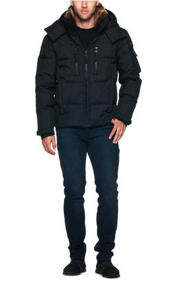 S13 Men Sierra Parka with Detachable Faux Rabbit Collar and Removable Hood