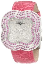Swiss Diamond Swisstek SK57738L Limited Edition Watch With Pink Sapphires, Genuine Crocodile Strap And Sapphire Crystal