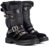 Burberry Fitzgerald shearling-trimmed boots