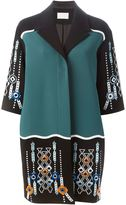 Peter Pilotto embellished single breasted coat