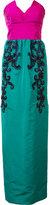 Oscar de la Renta beaded embroidery strapless dress - women - Silk - 2