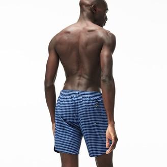 Lacoste Men's Striped Seersucker Swim Trunks