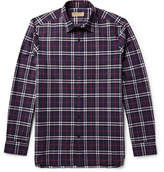 Burberry Slim-Fit Checked Cotton-Poplin Shirt