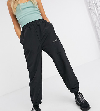 Collusion nylon sweatpants in black
