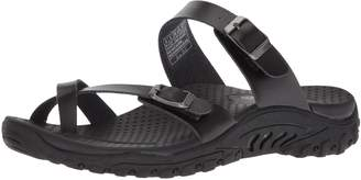Skechers Women's Reggae-Carribean-Double Buckle Toe Thong Slide Sandal