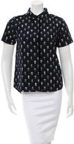 Chinti and Parker Pineapple Print Button-Up Top w/ Tags