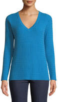 Neiman Marcus Cashmere Collection Baby Cable V-Neck Cashmere Sweater