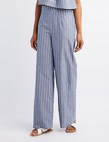 Charlotte Russe Striped High-Rise Palazzo Pants