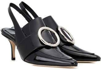 Dorateymur Eagle patent leather slingback pumps