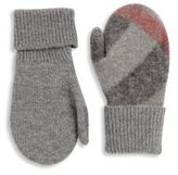 Burberry Kid's Check Wool & Cashmere Mittens