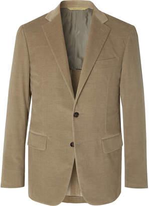 Canali Light-Brown Kei Cotton-Blend Corduroy Suit Jacket