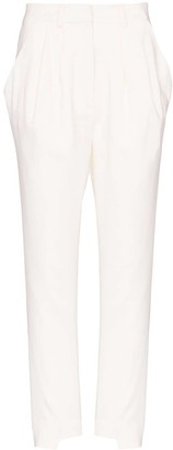 Frame x Imaan high-waist tailored trousers