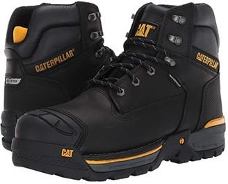 Caterpillar Excavator LT 6 Waterproof Composite Toe (Black Full Grain Leather) Men's Work Boots