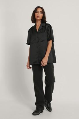 NA-KD Satin Short Sleeve Shirt