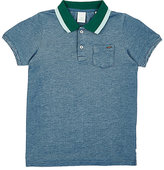 Scotch Shrunk CONTRAST-COLLAR COTTON PIQUÉ POLO SHIRT