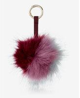 Express ok originals berry color blocked pom keychain and bag charm