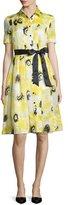 Kate Spade Sunny Daisy Silk Organza Shirtdress, Yellow