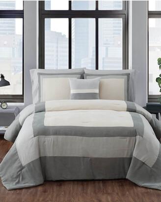 London Fog Dartford Microsuede 4Pc Comforter Set