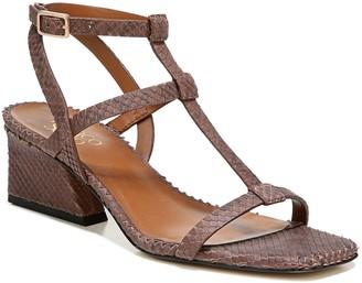 Franco Sarto Angled Block-Heel Leather Sandals- Chopra