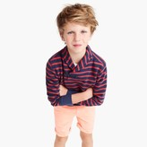 J.Crew Boys' striped shawl-collar terry sweater
