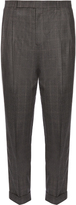 Paul Smith Pleated-front tapered wool trousers