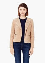 Mango Outlet Zipped Suede Jacket
