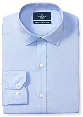 Buttoned Down Men's Tailored Fit Spread-Collar Solid Non-Iron Dress Shirt (No Pocket)