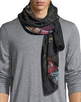 Etro Large Wool/Cashmere Scarf